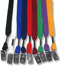 Flat Lanyard with Bulldog Clip