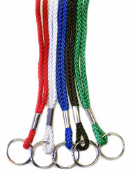 Round Lanyard with Split Ring